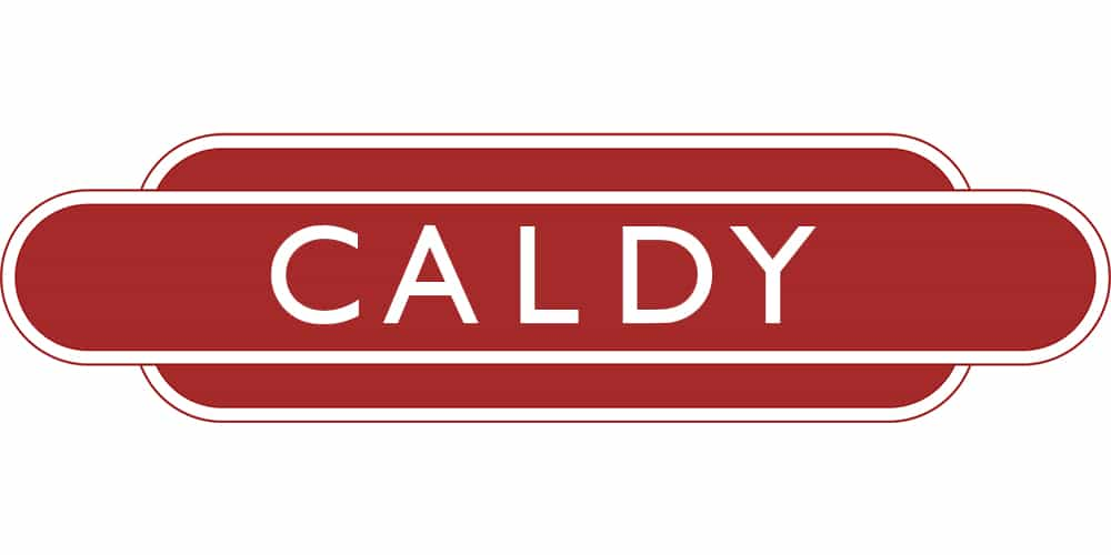 Caldy Station Sign